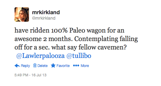 paleo question on twitter